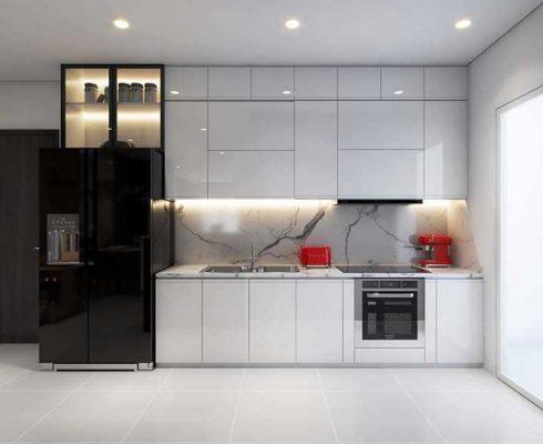 Thiết kế phòng bếp đẹp hiện đại 001