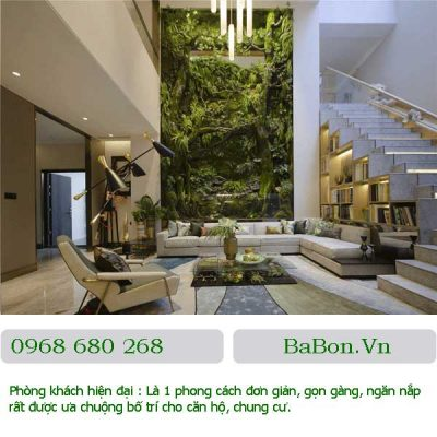 Phòng khách hiện đại 012