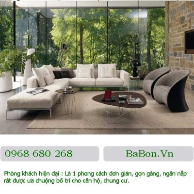 Phòng khách hiện đại 014