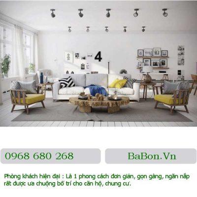 Phòng khách mang phong cách châu âu 01