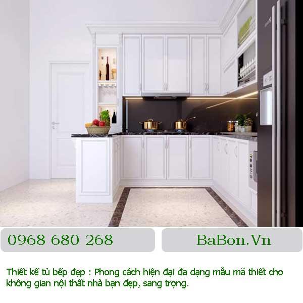 Mẫu thiết kế bếp đẹp 007