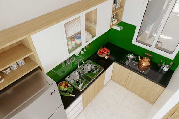 Mẫu tủ bếp 003 c