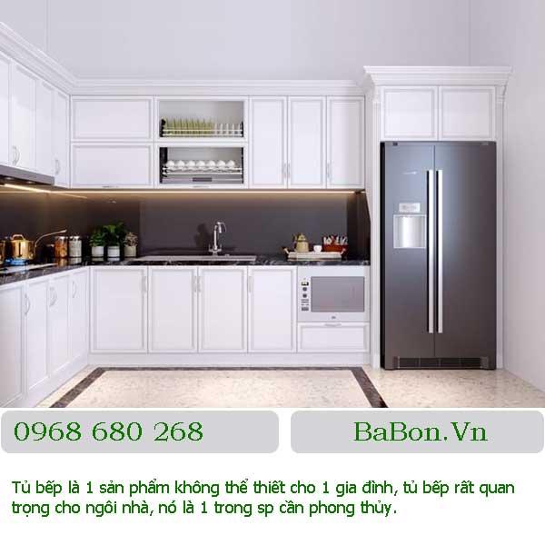Mẫu tủ bếp 003 gỗ công nghiệp đẹp giá rẻ