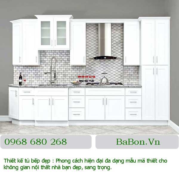 Mẫu tủ bếp cổ điển 001