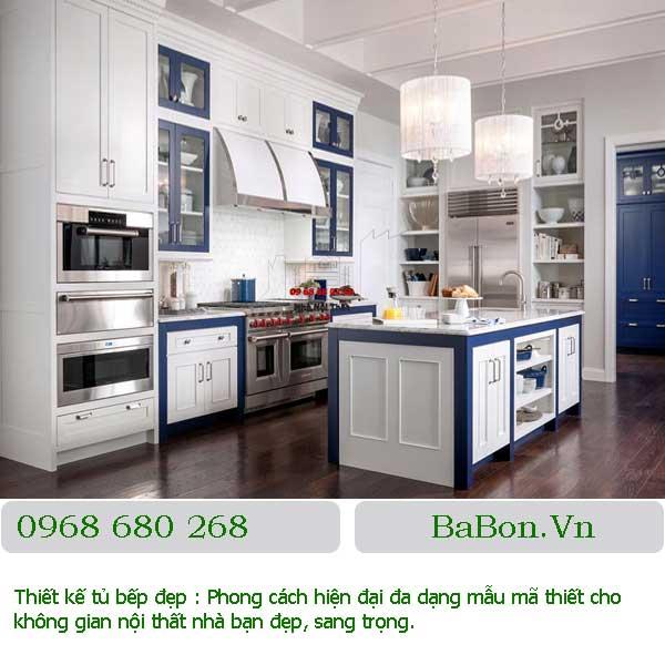 Mẫu tủ bếp tân cổ điển 001